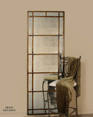 Avidan Antique Gold Leaner Mirror