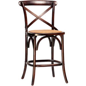Gustave Counter Stool in Antiqued Brown