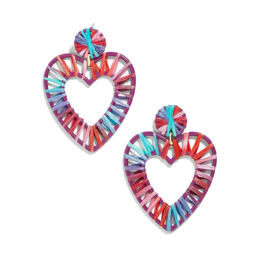 Woven Raffia Statement Earrings