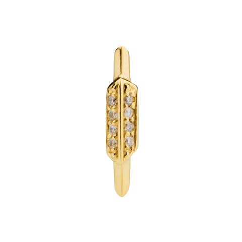 MARIA BLACK FINE JEWELRY Fay Wray Yellow Gold Stud Earring