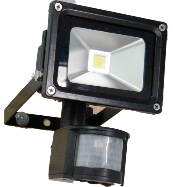 10W LED Floodlight & Motion Sensor