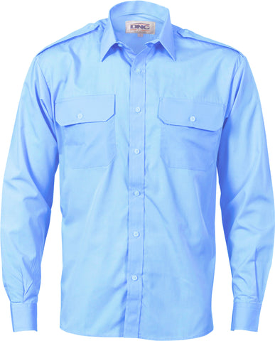 Picture of Epaulette Polyester/Cotton Long Sleeve Work Shirt