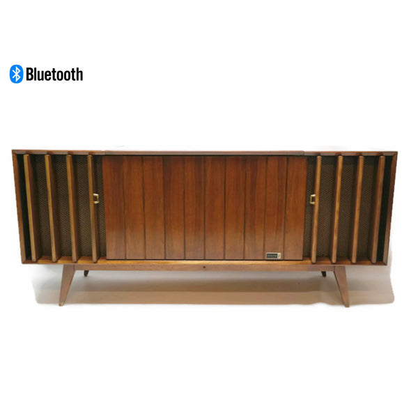 The Vintedge Co™ - 60s ZENITH DELUXE Louver Door HYBRID Record Player Changer Stereo Console