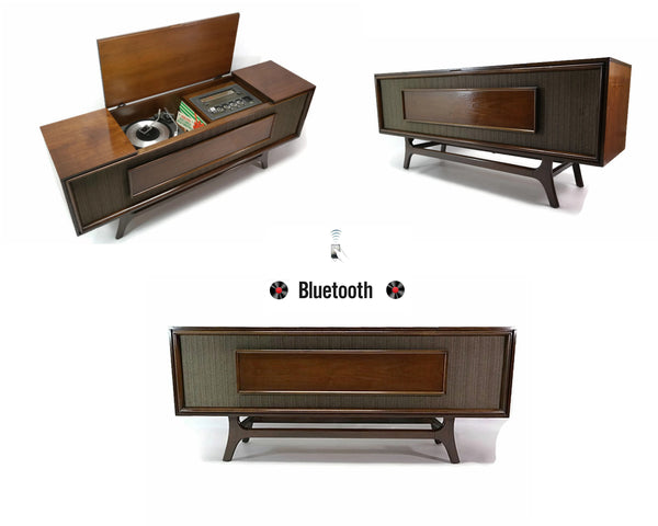 The Vintedge Co™ - GE Long and Low Stereo Console Record Player Changer