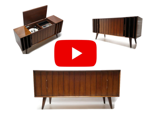 The Vintedge Co™ - ZENITH Louver Door Record Player & Changer Stereo Console