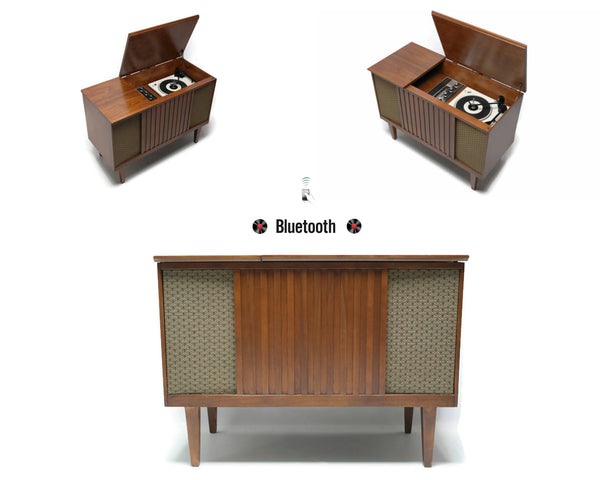 The Vintedge Co™ - DuMont Petite Mid Century Stereo Console Record Player Changer