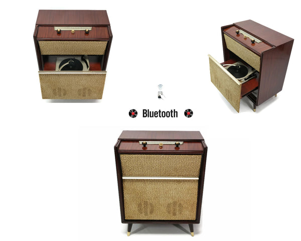 The Vintedge Co™ - SILVERTONE 50's Mid Century Record Player Changer High Fidelity Console