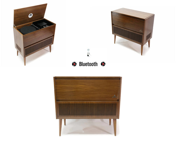 The Vintedge Co™ - TURNTABLE READY SERIES - GRUNDIG Modern Orbit Record Player Stereo Console