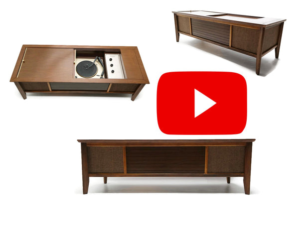 The Vintedge Co™ - AIRLINE Vintage Coffee Table Record Changer Vinyl Player