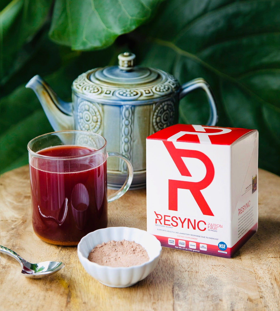 Tea mixed with resync