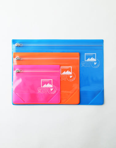colorful flat pouch