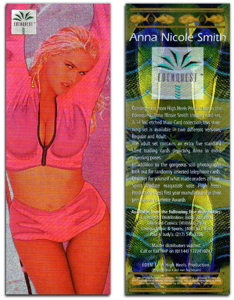EdenQuest - A High Heels Production - Foil Chromium Oversized Promo Card - Eden 3 - Anna Nicole Smith