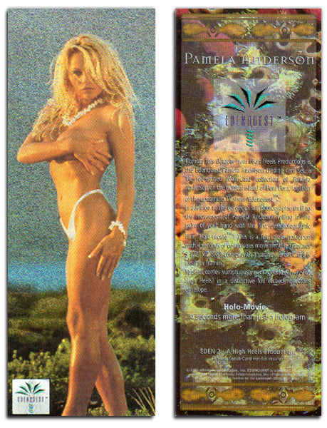 EdenQuest - A High Heels Production - Foil Chromium Oversized Promo Card - Eden 2 - Pamela Anderson