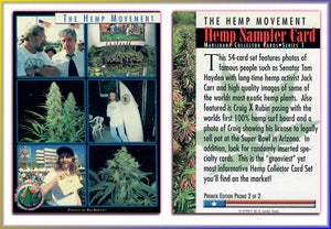 The HEMP Movement - Marijuana - Premiere Edition Promo Card 2 of 2
