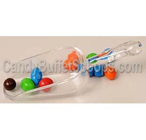 3 ounce clear acrylic candy scoop. Candy buffet scoops.