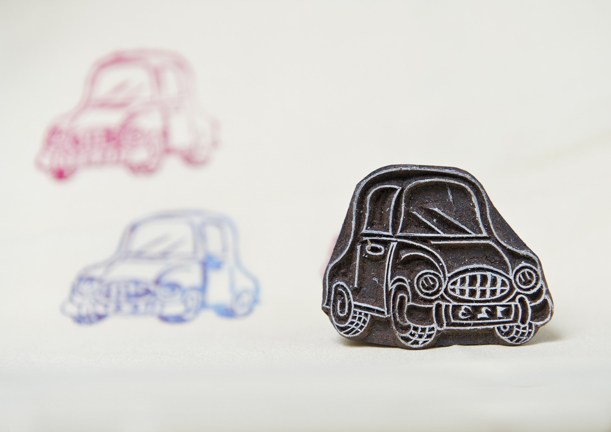 Car design on a Rosewood stamp