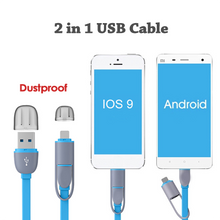 Load image into Gallery viewer, Custom Logo 2 In 1 Micro Usb Cable Android Port Mobile Phone Cables