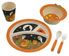 Bamboo Studio Kids/Toddlers Bamboo Dinnerware Set, Halloween Pumpkin, BPA Free