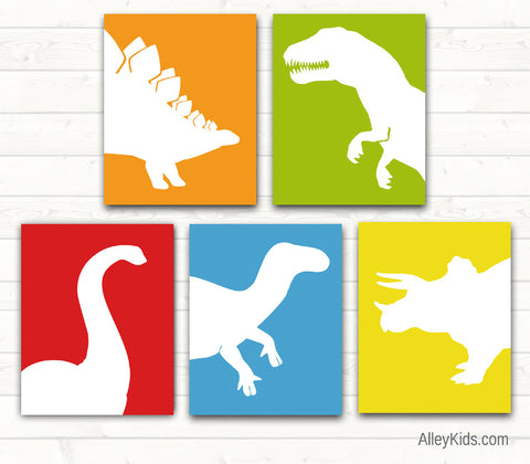 Dinosaur Nursery Art Prints, pick any 4