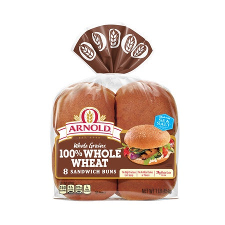 Arnold Whole Wheat Hamburger Rolls