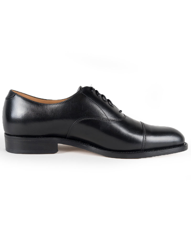 Black Cap Toe Oxford Shoes