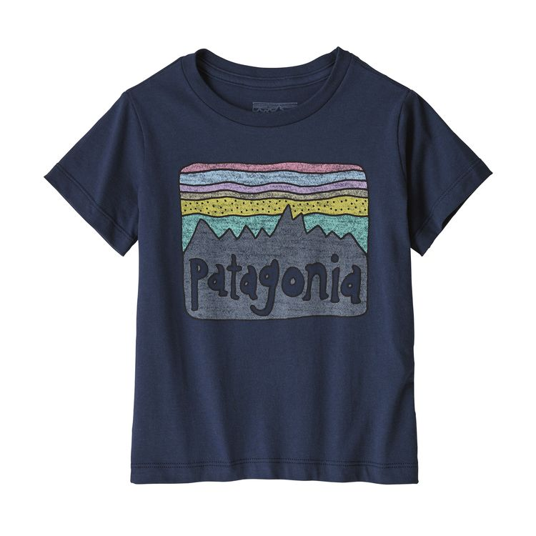 Patagonia baby fitz roy skies tee, new navy