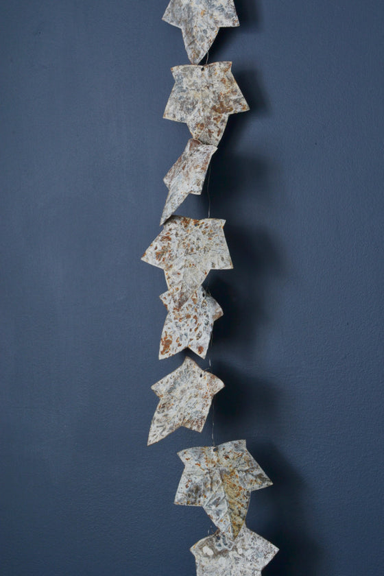 - Aged zinc leaf garland 190cm - Décor and Vases - Decorator's Notebook