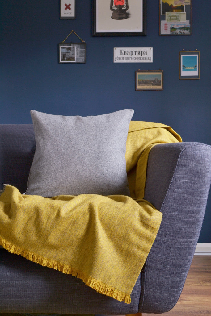 Woven wool cushion cover: Light Grey - Cushions - Decorator's Notebook