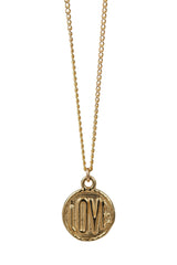 love coin necklace