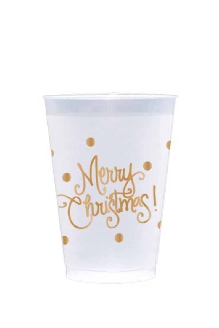 MERRY CHRISTMAS CONFETTI DOT CUPS