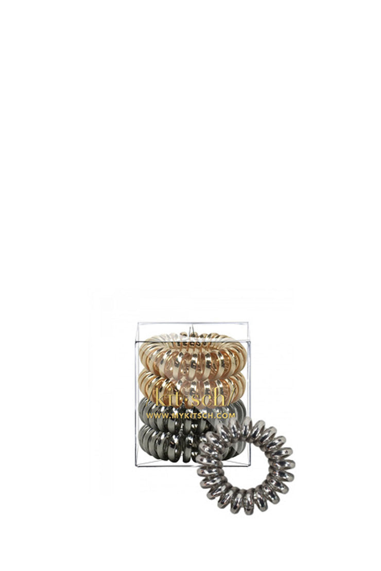 4 PACK HAIR COILS METALLIC