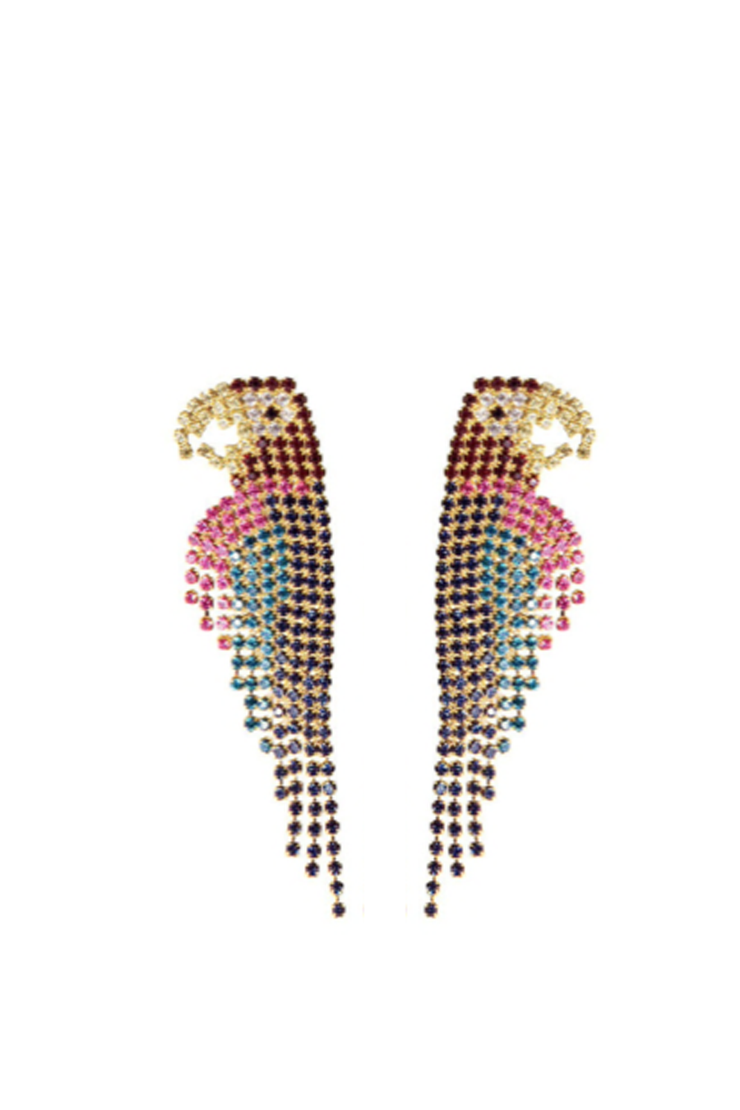 POLLY PAVE DROP EARRINGS
