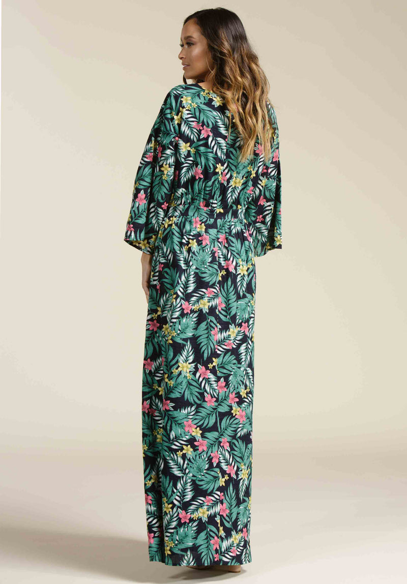HAYDEN PLUNGING MAXI DRESS | LUAU NAVY