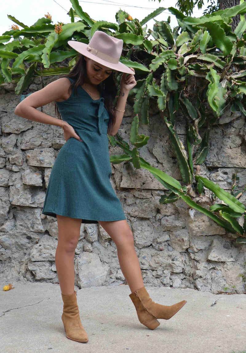 KALAHARI RIBBED DRESS | HUNTER