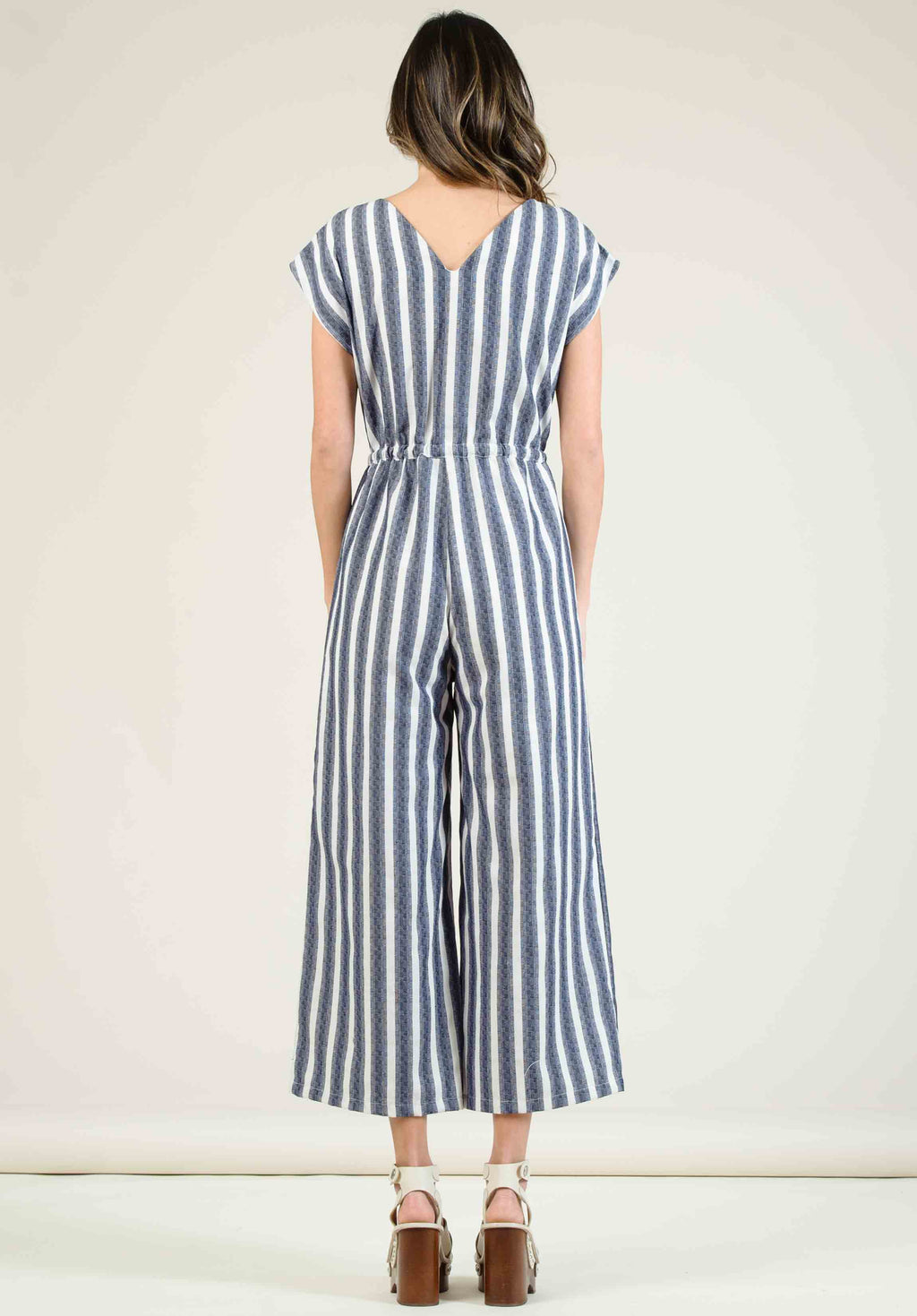 CARMELA CULOTTE JUMPSUIT | NAVY RUGBY STRIPE