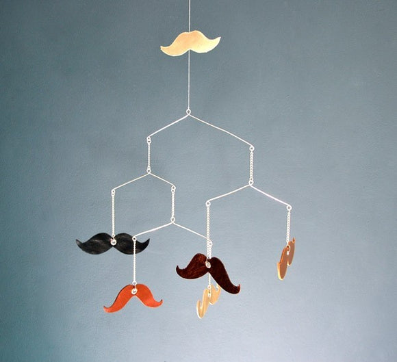 Mobile moustaches by PÖM le Bonhomme