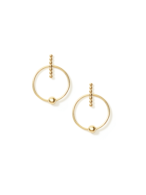 Axis Hoop Earrings - Petit
