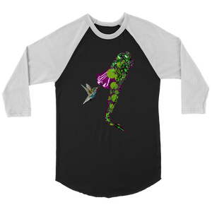 Humming Bird Canvas Unisex 3/4 Raglan