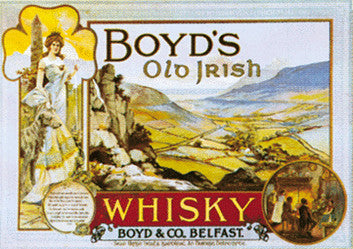 Boyd Old Irish Whisky Advertisement Poster