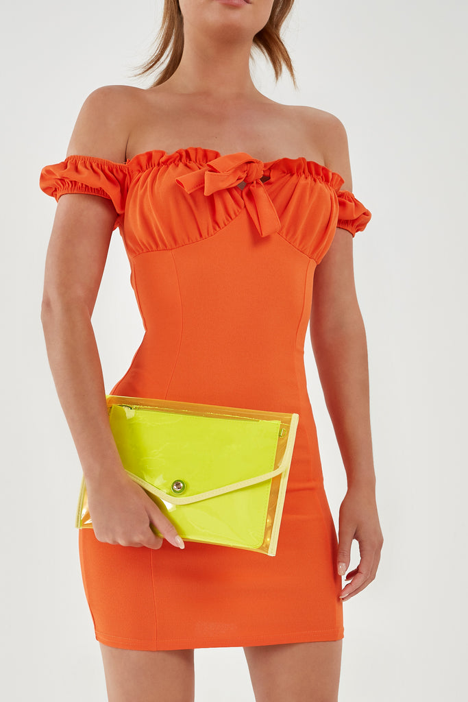 Party Festival Neon Yellow Clutch Bag