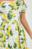 Gerri Lemon Print Tea Dress