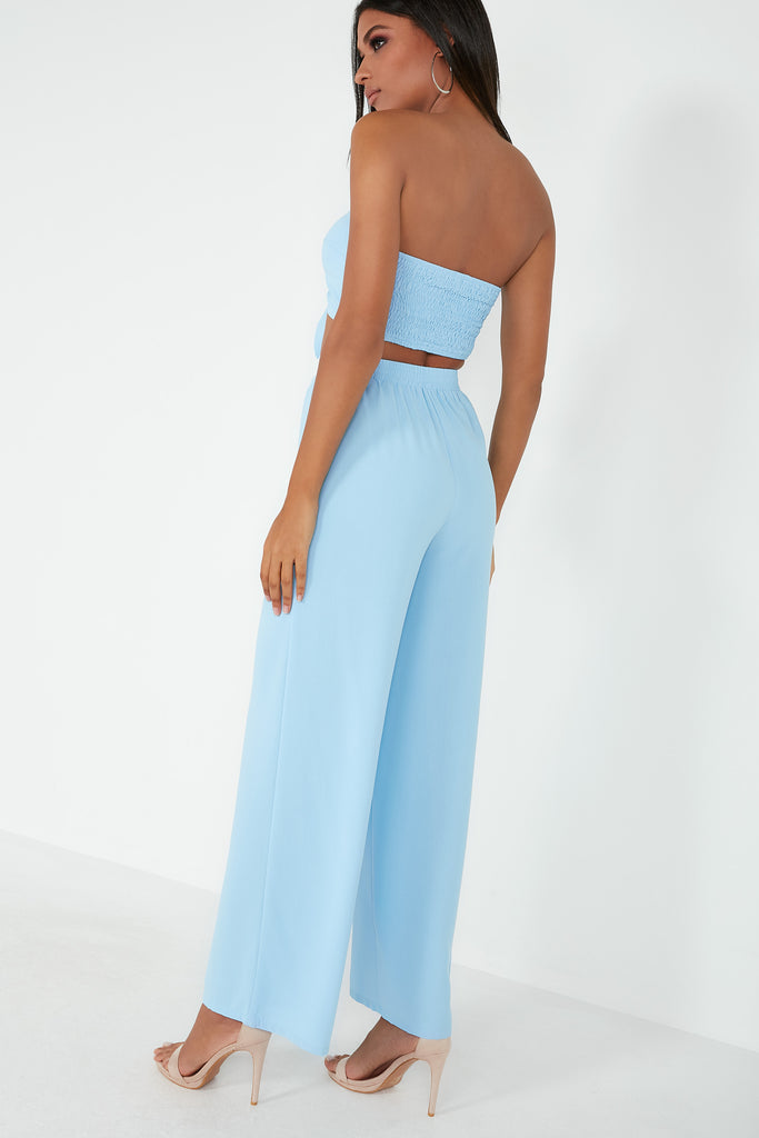 Karla Blue Wide Leg Trouser Co-Ord