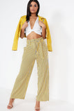 Olvas Yellow Striped Paperbag Trousers