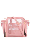 Pam Pink Clear Satchel Bag