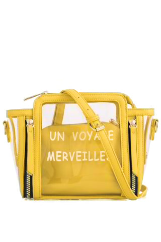 Pam Yellow Clear Satchel Bag