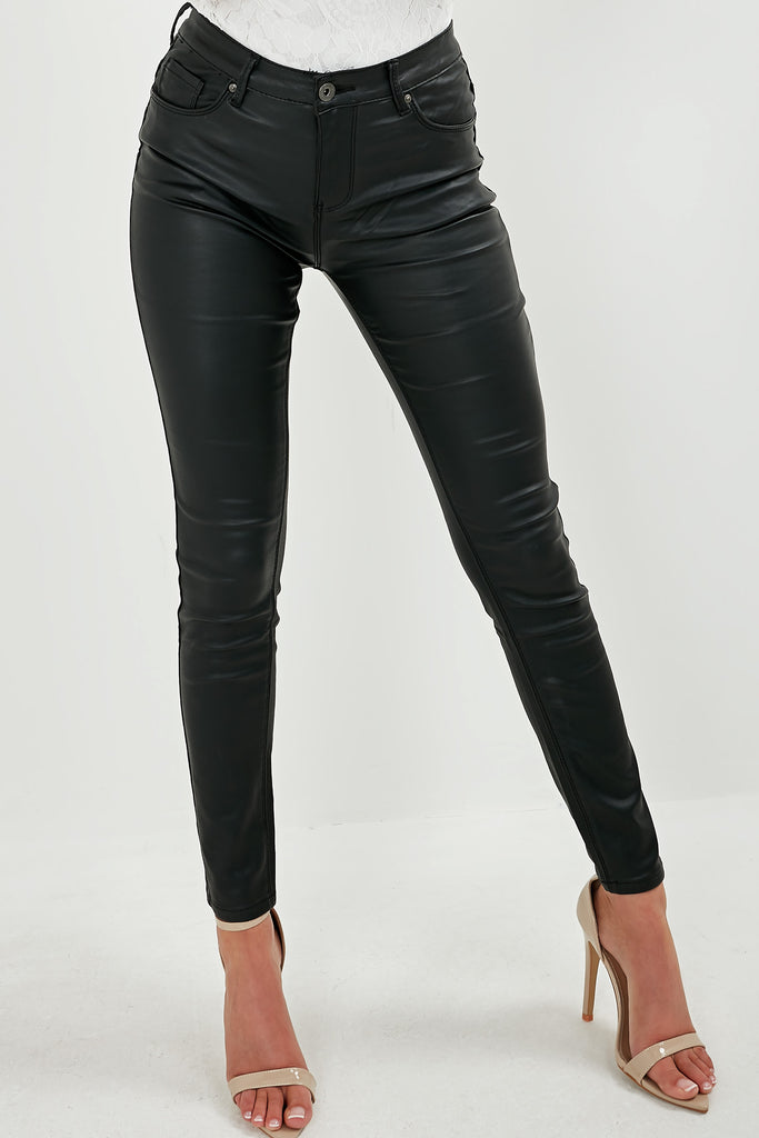Rebecca Black Wax High Waist Trousers