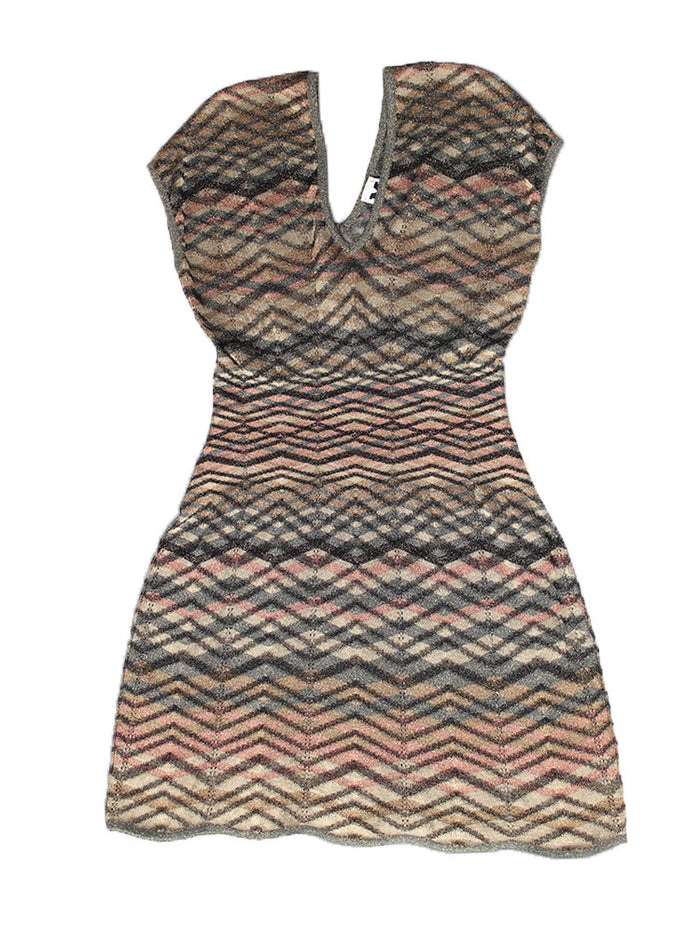 Vintage Missoni Italy Knit Scalloped Dress