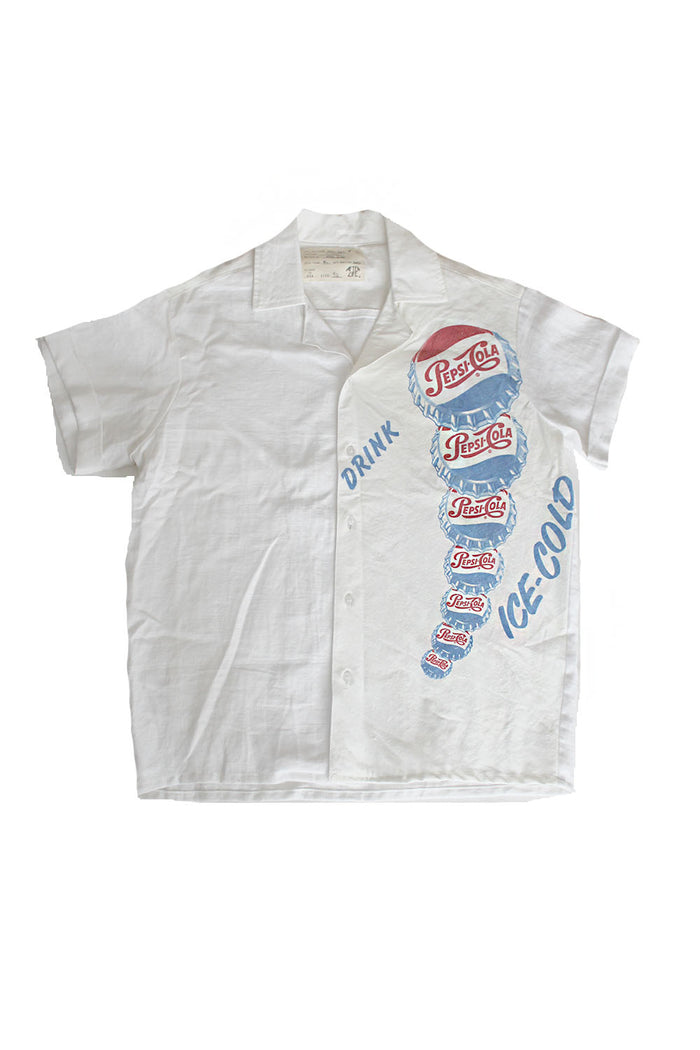 ALC-067 Vintage 60's Pepsi Ice cold Linen Shirt ///SOLD///
