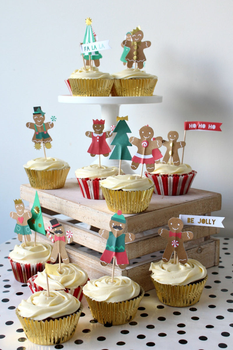 Christmas Gingerbread Cupcake Kit | Pop Roc Parties