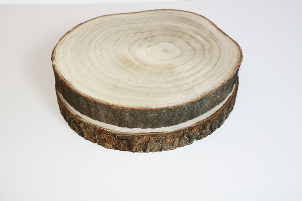 Wooden Log Rounds - HIRE | Pop Roc Parties